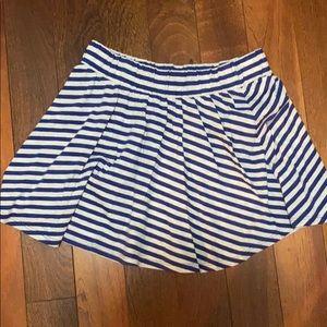 Striped H&M cotton Mini skirt